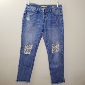 Guess Tomboy Blue Distressed Jeans Size 27